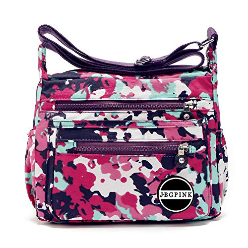 - Nylon Crossbody Handbag Women Messenger Bags Shoulder Bag Famous Brands Lightweight Waterproof (1-Camouflage)