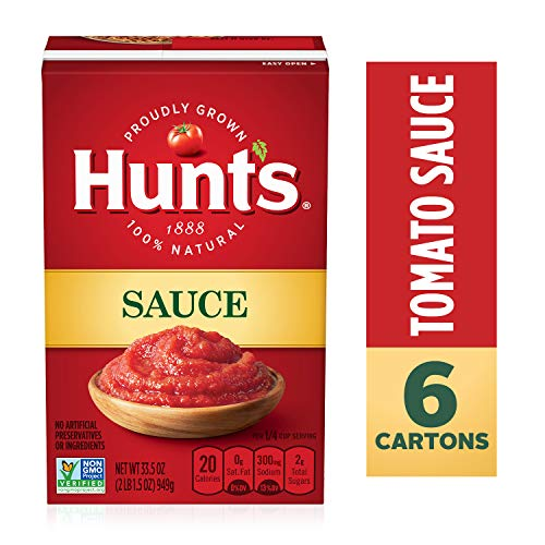 Hunt's Tomato Sauce, 33.5 oz, 6 Pack