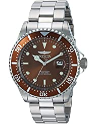Invicta Mens Pro Diver Quartz Stainless Steel Diving Watch, Color:Silver-Toned (Model: 22049)