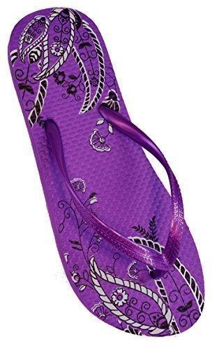 Mujer Estampado Cachemira Diseño Chanclas De Goma / Zapatillas De Playa Morado