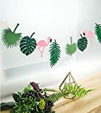 Tropical Leaves Flamingo Party Supplies Girls Room Decoration Accessory for Luau Summer Party