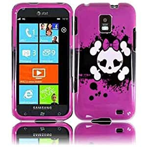 Compatible with Samsung© Focus S i937 Design Cover - Pink Skull