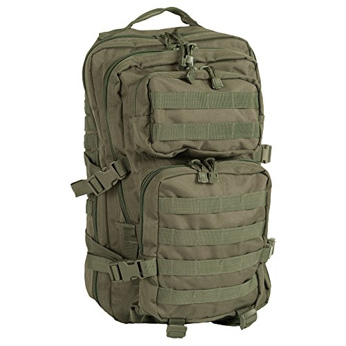 Mil-Tec MOLLE Tactical Assault Backpack – Large 36 Litre (Olive Drab)