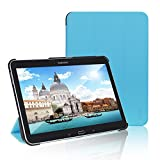 Tab 4 10 Case, JETech® Gold Slim-Fit Smart Case Cover for Samsung Galaxy Tab 4 10.1 (10 Inch) Tablet PC with Auto Sleep/Wake Feature (Blue)