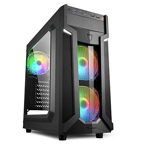 Sharkoon VG6-W RGB Black Mid Tower Case (M-ITX/M-ATX/ATX)