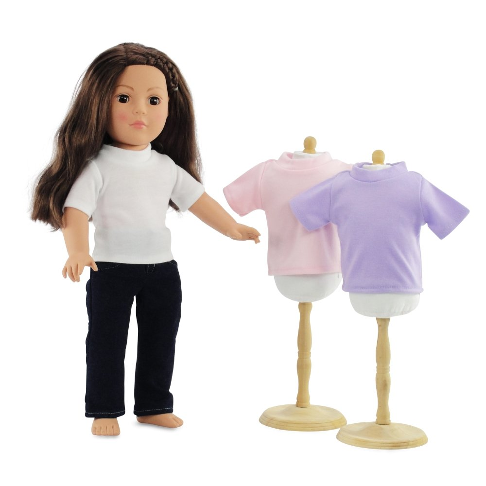 Amazon.com: 18 Inch Doll Clothes Skinny Jeans and White T-shirt ...