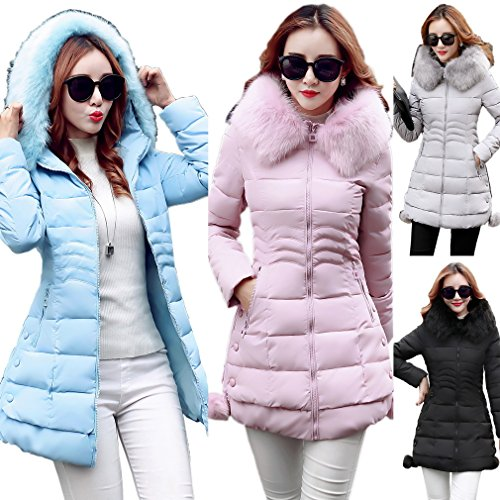 Plus Warm Ladies Coat Soprabito Blu 3xl Down Size Bigood Tight Hooded Jacket ZaAq1xxw