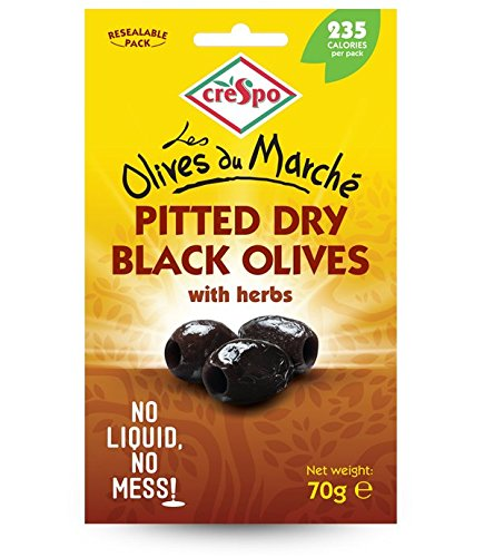 Crespo Black Olives Pitted Dry with Herbs (70g)