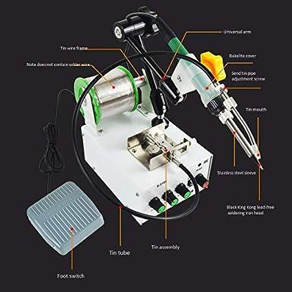TOOGOO S3100 Maquina De Soldadura Con Termostatode Tipo De Pedal Completamente Automatico Maquina De Soldadora Soldador De Puntos Pequenos Enchufe De La Ue: ...
