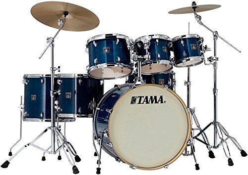 Tama Superstar Classic Custom 7-Piece Shell Pack Transparent Blue Lacquer