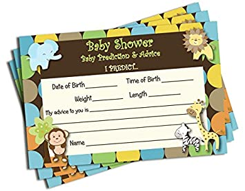 Amazon Com 50 Baby Shower Advice Prediction Cards For Mom King