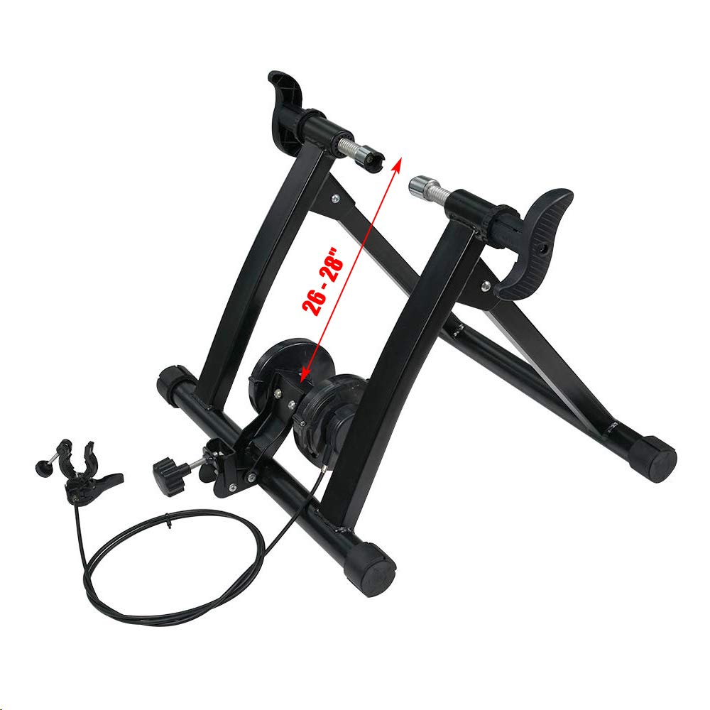 DakRide Bike Trainer Stand Steel Bicycle Exercise Magnetic Noise Reduction Stand for Indoor Exercise Riding Portable Quick Release 7 Levels Resistance Exercise Stand
