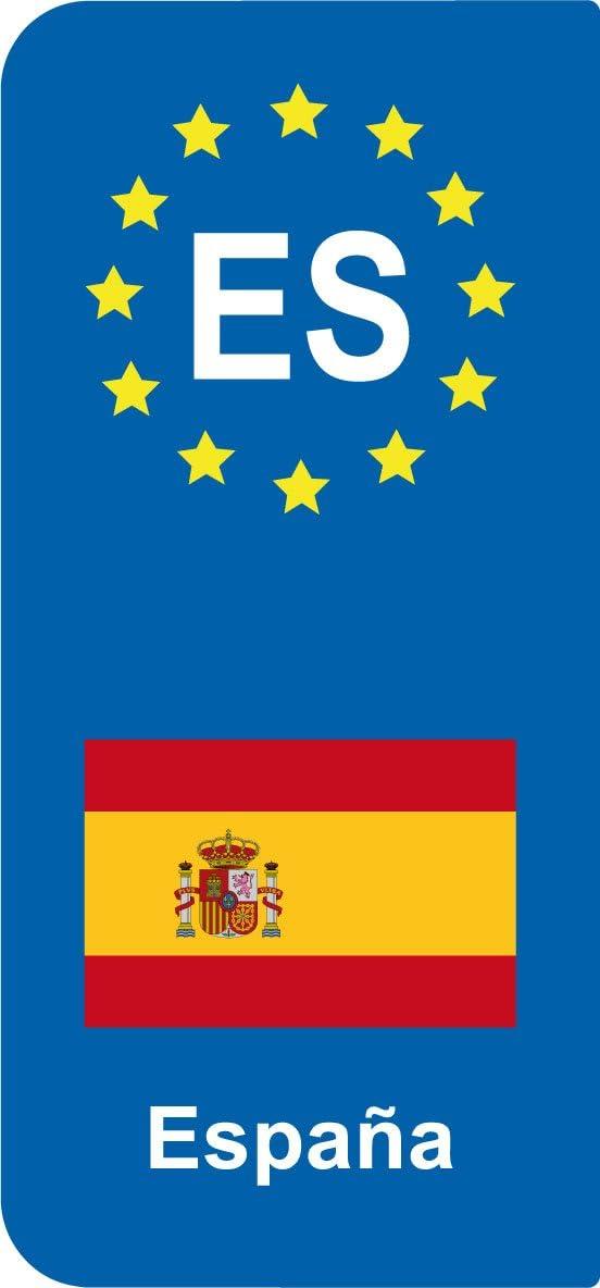 2 adhesivos estilo matrícula bandera España es: Amazon.es: Coche y moto