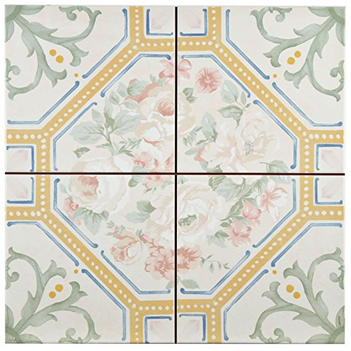 SomerTile FPEVLURE Victoriano Ceramic Floor and Wall Tile, 13