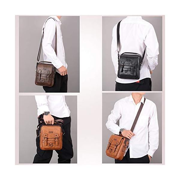 JEEP-BULUO-Men-Messenger-Bag-Casual-Crossbody-Handbag-For-iPad-miniBlack