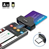 Type C Smart Card Reader Rocketek DOD Military USB-C Common Access CAC Card Reader, Credit Card Reader/Chip Card Reader Compatible with Android Phones, MacBook Pro, iMac and Other Type C Laptops