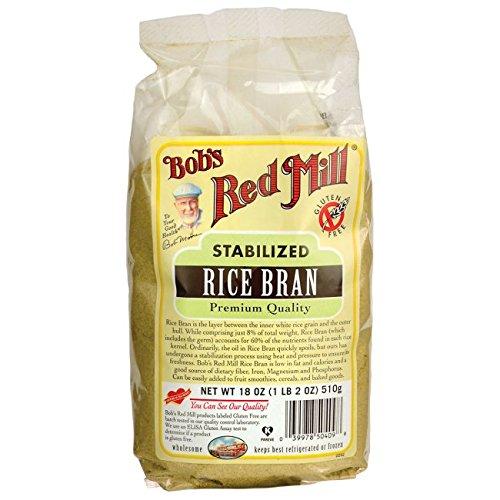 One 18 oz Bob's Red Mill Rice Bran