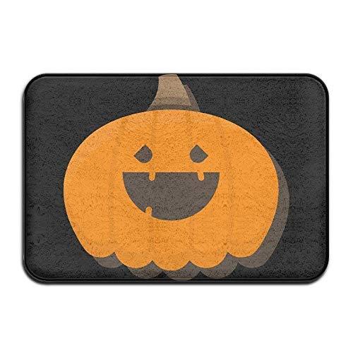 (GTdgstdscHalloween Pumpkin Emoji Indoor Doormat Entrance Mat Floor Mat Rug Front Door/Bathroom Mats Rubber Non)