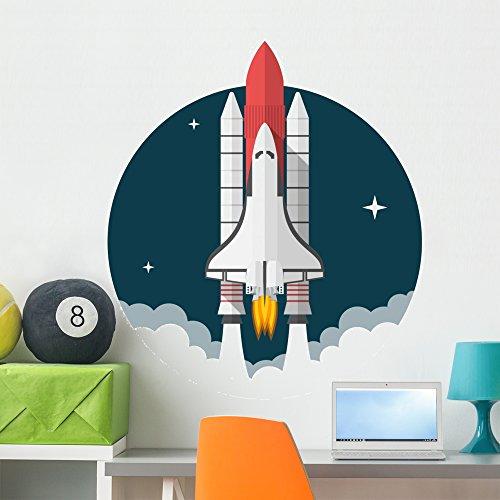 Wallmonkeys FOT-81217073-36 WM58455 Space Shuttle Peel and Stick Wall Decals H x 36 in W, 36