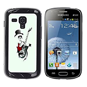 LECELL -- Funda protectora / Cubierta / Piel For Samsung Galaxy S Duos S7562 -- Rock Guitar Player Cool --