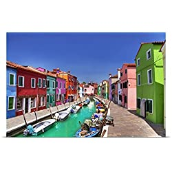 Great BIG Canvas Poster Print entitled Burano Island, Italy