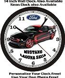 mustang car clock - FORD MUSTANG LAGUNA SECA WALL CLOCK-FREE US SHIP-NEW!