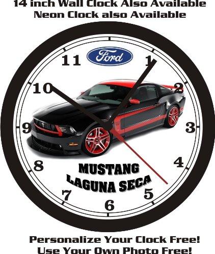 FORD MUSTANG LAGUNA SECA WALL CLOCK-FREE US - Plymouth New Ford