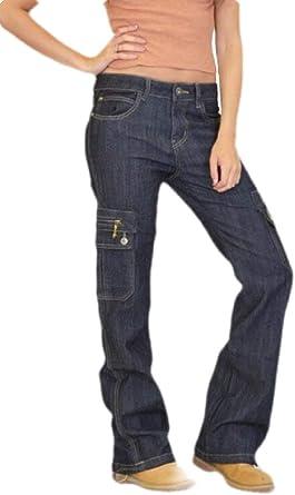 H E Pantalones Cargo Bombero De Cintura Alta Jeans Con Multiples Bolsillos Para Mujer Amazon Es Ropa Y Accesorios