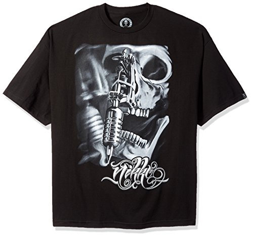 Sullen Clothing Men's Nikko Short Sleeve Tee, Black, 4XL