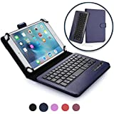 Cooper Infinite Executive Keyboard case Compatible with LG G Pad 8.3 | 2-in-1 Bluetooth Wireless Keyboard & Leather Folio Cover | 100HR Battery, 14 Hotkeys (Dark Blue)