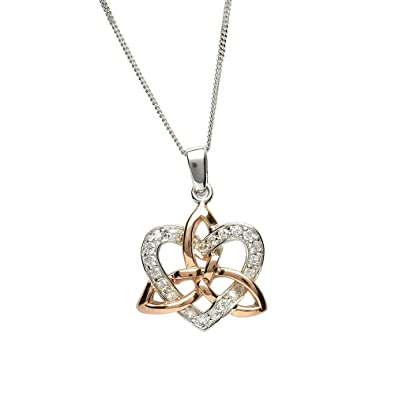 Amazon celtic love knot pendant sterling silver rose gold celtic love knot pendant sterling silver rose gold aloadofball Image collections