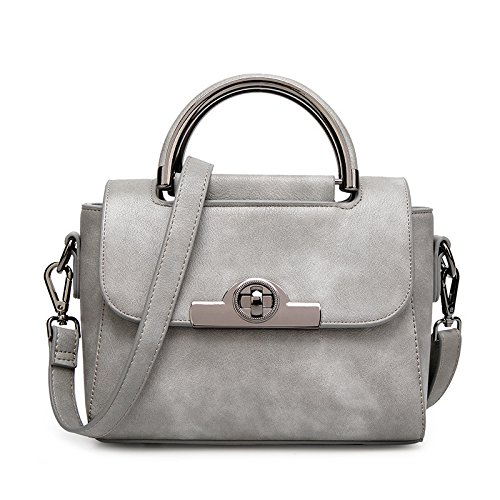 BAILIANG Womens Matte Bag Sac à Bandoulière Crossbody Sac à Main SUMI Classic Gray