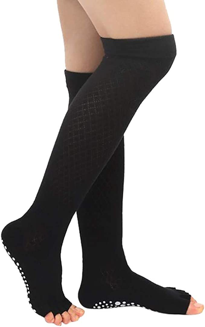 1 PAIR of GIRLS TOELESS OVER  KNEE SOCKS **GREAT DESIGN ** one size fits ALL**