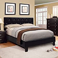 247SHOPATHOME Idf-7949BK-HB-FQ Headboards, Queen, Black