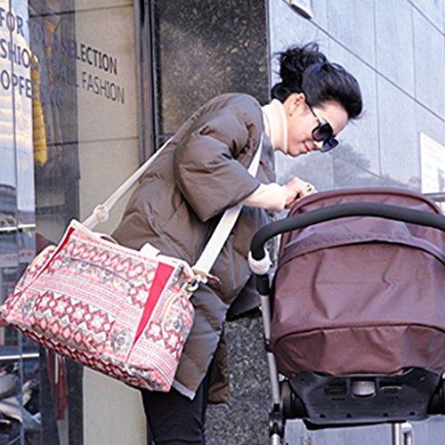 PRIMI 1Mama Handtasche Baby Wickeltasche Bohemian-Stil Rot