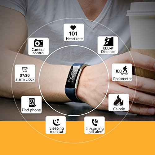 Sleep Device Monitoring,Supplylink Waterproof Fitness Tracker and Activity Watch Multi Health Bluetooth 4.0 GPS for Android/iOS,14 Kinds of Sports Mode by Supplylink (Image #3)