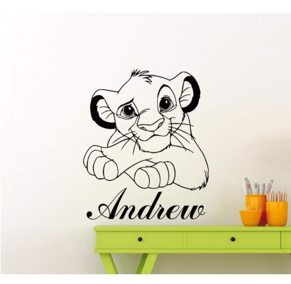 Dalxsh Dibujos animados de vinilo tatuajes de pared Simba Nursery ...