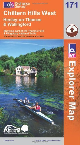 Chiltern Hills West, Henley-on-Thames and Wallingford (OS Explorer Map): Showing part of the Thames Path & Ridgeway National Trails by Ordnance Survey (2009) Paperback ()