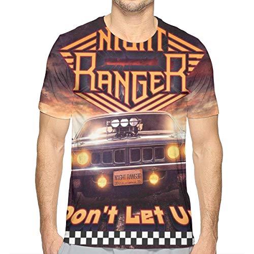 Night Ranger Men's Short Sleeve T Shirts Full Print XL White ()