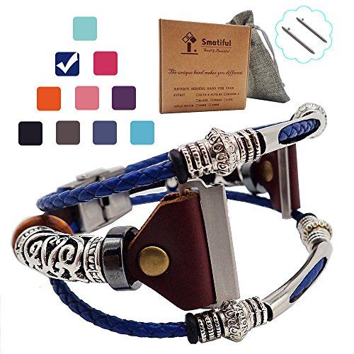 Smatiful Blaze Glitter Bands with Box Pack for Mens, Adjustable Replacement Bracelet Band Compatible with for Fitbit Blaze,Royal Navy Blue