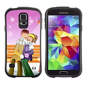 "Pulsar iFace Series Tpu silicona Carcasa Funda Case para Samsung Galaxy S5 , Pareja caliente amor Invierno Romance Art Park"""