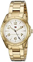 Tommy Hilfiger Women's 'LIZZIE' Quartz Gold Plated Casual Watch (Model: 1781638)