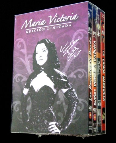 Maria Victoria 4-dvd boxset (Los Paquetes de Paquita / Cupido Pierde a Paquita / Del Rancho a la Television / La Criada Maravilla) [NTSC/Region 1&4 dvd. Import - Latin America] - Victoria Rancho