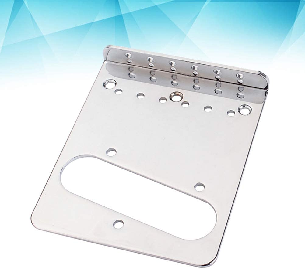 Healifty Top Loader Guitar Bridge Plate for Fender Telecaster TL Electric Guitar Pickup Replacement Parts Accessories Silver