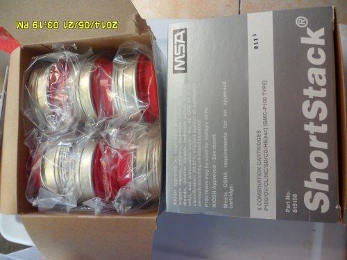 P100 Combination Respirator Cartridge Refill 6 Pack MSA