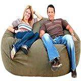 Cozy Sack 6-Feet Bean Bag Chair, Large, Olive