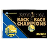 Rico Industries Golden State Warriors 2018 NBA Back to Back Champions Flag