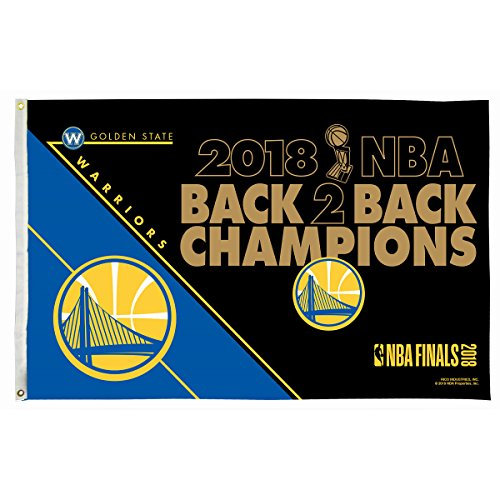 Rico Industries Golden State Warriors 2018 NBA Back to Back Champions Flag by Rico Industries