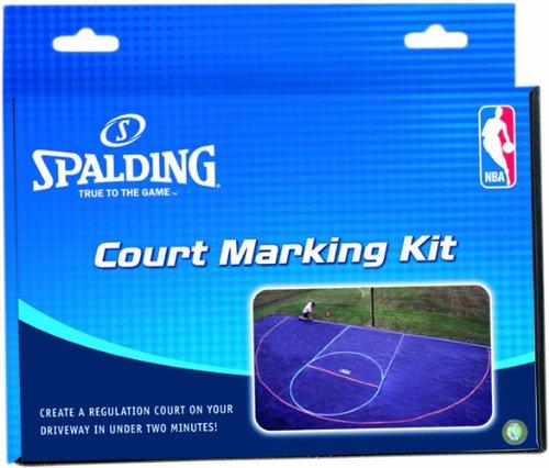 Spalding 8375 - Kit per Tracciare un Campo di Basket, Blu (blu/rosso), 40 x 24 300164201