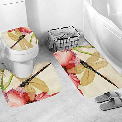 Gotian 3pcs Non-Slip Fish Scale Bath Mat Bathroom Kitchen Carpet Doormats Decor, Colorful, Cute, and aHoliday Spirit Go Booster - Cabinet Medicine New York